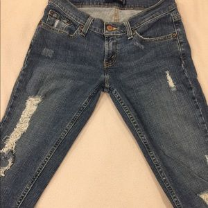 Levi's top superlow 524 jeans, size 7